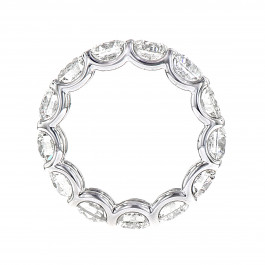 Round Cut Diamond Eternity Band